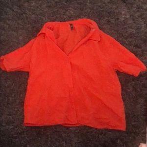 Women's Zara top in Orange